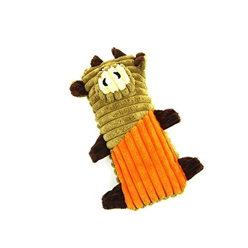 Naisidier Mascota Masticar Juguetes para Perro chirriante Juguete de Peluche Duro para Perros medianos Grandes Entrenar y Mantener a Las Mascotas Fit (Naranja) Suministros para Mascotas