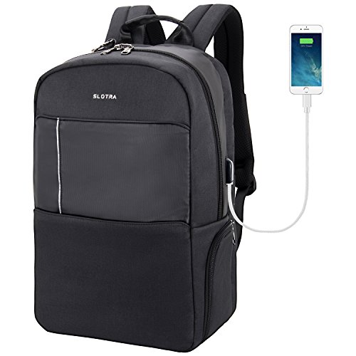 190b636a3c SLOTRA Waterproof Backpack Business Travel Backpack 17 inch Large ...