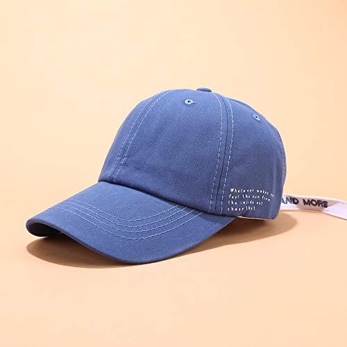 sdssup Cappello da Baseball Femminile Estivo Cappello da Sole Morbido Sorella Tendenza Cappello Selvaggio Lettera Laterale Blu Regolab