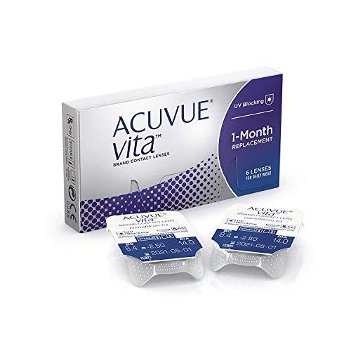 ACUVUE Vita Monatskontaktlinsen mit maximalem Tragekomfort - Den ganzen Monat lang - -5.5 dpt & BC 8.4 - Mit UV Schutz & durchgängig hohem Feuchtigkeitsgehalt - 6 Linsen