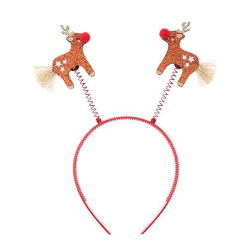 kesoto Damen Stirnband Haarspange Haar Clips Pferdeschwanz Halter Haarseil Haargummi für Weihnachtsfeier - Haarreifen