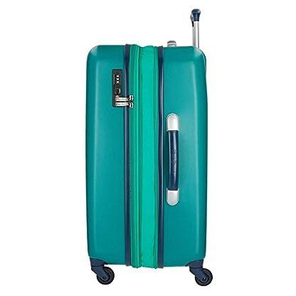 Pepe Jeans Bristol Juego de maletas, 136 litros, 77 cm, Verde