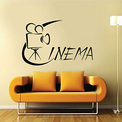 Wuyyii 65X42Cm Wandaufkleber Vinyl Aufkleber Hollywood Cinema Movie Camera Film (Bars Halloween Hollywood)