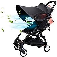 La cortina de Sun para cochecitos de bebé Widen sol y lluvia cubierta de la cortina anti-UV paraguas del pabellón ajuste universal para cochecito de niño ...