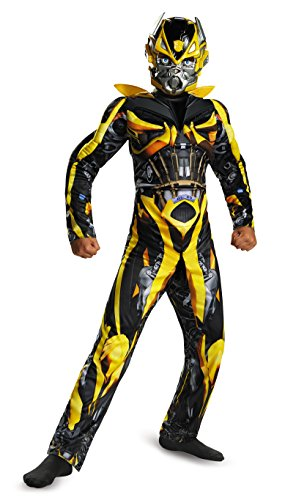 Disguise Hasbro Transformers Age of Extinction Movie Bumblebee Classic Muscle Boys Costume, Small/4-6 by Disguise