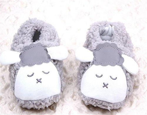 Krabbelschuhe Lauflerner Babyschuhe Puschen Schläppchen Hausschuhe Grau