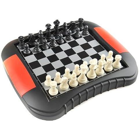 Monaco Magnetic Series: Ajedrez - Juego de mesa magnético (color blanco y negro) , Tamaño Medio: Dimensiones 27,2 x 23,7 x 3,5 cm, Mod. SC9614 DE