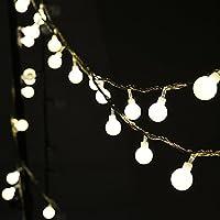 Auben Strisce di Luci LED Globo Luce Calda Bianca, 10 Metri 100 Singoli LED Decorativa (Primo Uomo A Piedi Luna)