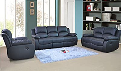 Valencia Recliner Leather Sofa Suite 3+2+1 Seater Brand New Available in 3 Colours with 12 Months warranty FREE DELIVERY ENGLAND AND WALES ONLY by FURNITUREINSTORE