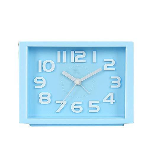 Square Smart Digital Wecker Stille Wecker Lazy Sleepy Nachttischuhr Kreative Kinder Luminous Elektronische Quarzuhr 3 Farbe Optional 16 cm x 4,5 cm x 14 cm (Color : Blue)