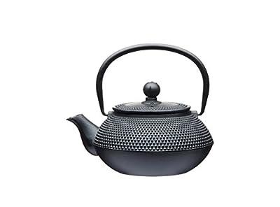 KitchenCraft Le'Xpress Théière en fonte Style japonais Avec infuseur 600ml, Fer forgé, noir, 16.2 x 16.2 x 9 cm
