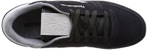 Reebok Cl Leather Suede, Chaussures de course femme Noir - Schwarz (Gravel/Chalk)