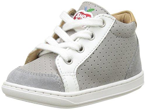 Shoopom  Bouba Zip Box,  Scarpe primi passi Bimbo 0-24, grigio (Gris (Grey-Blanc)), 23 EU