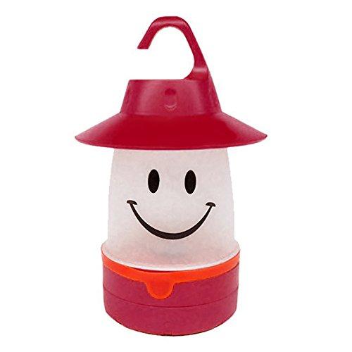 Steellwingsf LED-Laterne mit süßem Smile-Gesicht, für Kinder und Outdoor-Aktivitäten, Nachtlicht, rot, Einheitsgröße