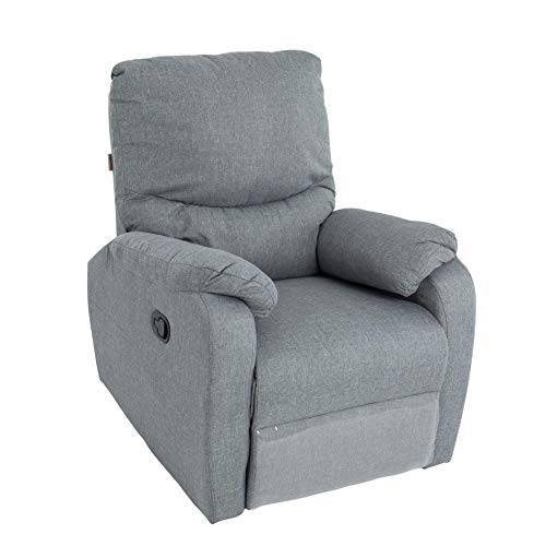 ESTEXO RTV Relax- und TV-Sessel mit Fußstütze Grau