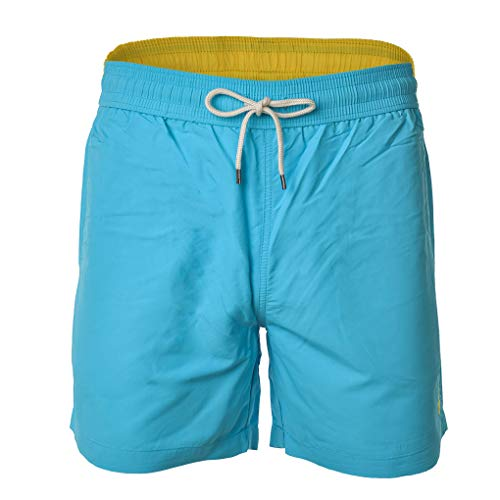 Polo Ralph Lauren Herren Badeshorts - Traveler-Swim, Badehose, Mesheinsatz (Hellblau, L (Large)) (Polo Herren Badehose Ralph Lauren)