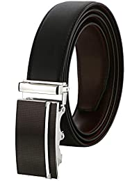 Labnoft Men's PU Leather Belt with Automatic Buckle, Free Size