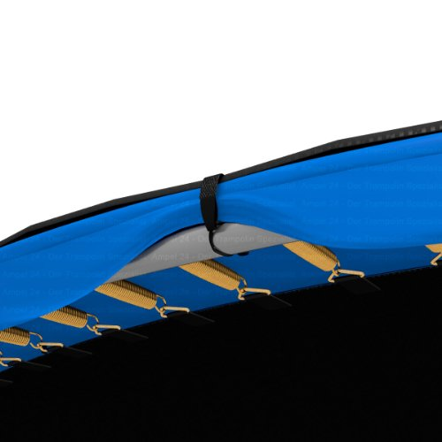 Ampel 24 Trampolin Abdeckplane | Wetterschutzplane für Gartentrampolin 366 cm | Abdeckung UV-beständig | schwarz -