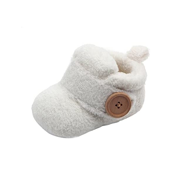 Saingace Baby Shoes, Lovely Toddler First Walkers Baby Shoes Round Toe Flats Soft Slippers Shoes