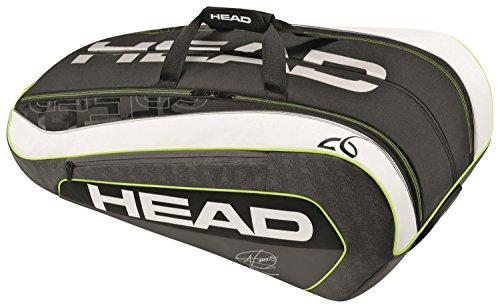 HEAD Schlägertasche Djokovic 12R Monstercombi, Schwarz, 80x31x44cm, 283076