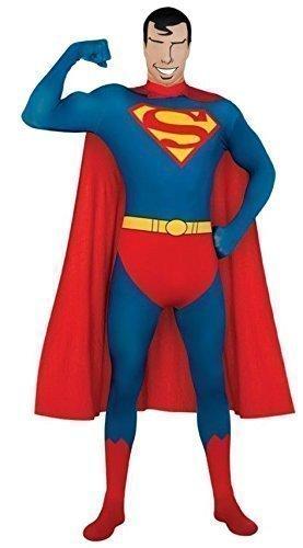 Skin Robin Super Iron Man Captain America Power Ranger Ganzkörper Stretch Overall Halloween Kostüm Kleid Outfit - Blau, Large (Power Ranger Outfit)