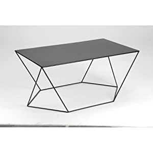 Table Basse Moderne En Métal Noir Twist Amadeus