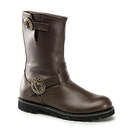 Demonia, Stivali uomo Marrone (Brown Leather)