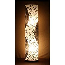 Lámpara de pie asiatica Padma,(LA12-123), Decoración luminosa de diseño Bali