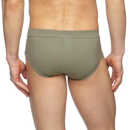 Huber Herren Unterhose Comfort Slip mit Eingriff Grün (MILITARY 0545)
