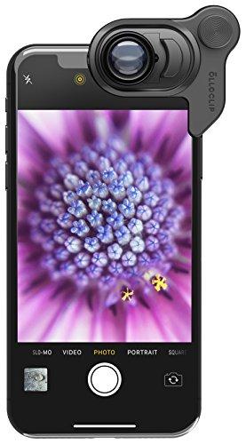olloclip Makro 21x Linse für iPhone X I Erstelle Einzigartige Fotos und Videos Dank InstaFokus - Schwarz (Abstriche Präzision)