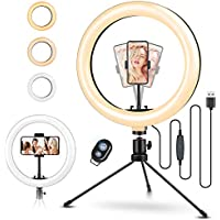 """ELEGIANT Aro de Luz Trípode Fotografía, 10.2"""" Anillo de Luz Selfie con Control Remoto 120 LED 3 Modos 11 Niveles de Luz para TikTok Youtube Instagram Vlog Vídeo Maquillaje Enseñanza para iOS Android"""
