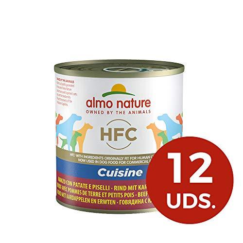 Almo Nature HFC mouillé Nourriture pour Chien, Cuisine de Boeuf avec Pommes de Terre et Petits Pois, 280g, Lot de 12