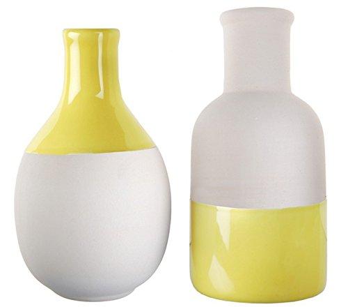 Chal-2jarrones Scandinaves amarillo blanco surtidos