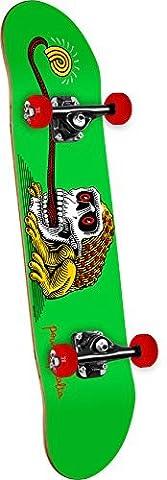 Powell-Peralta Frog Skull Mini Skateboard Deck, Green/Black/Grey by Powell-Peralta