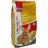 AIME Nourriture pour Lapin Nain, NUTRI'BALANCE SAVOUR MIX, Repas mélange varié vitaminé, Fibres, 900g - Lot de 4