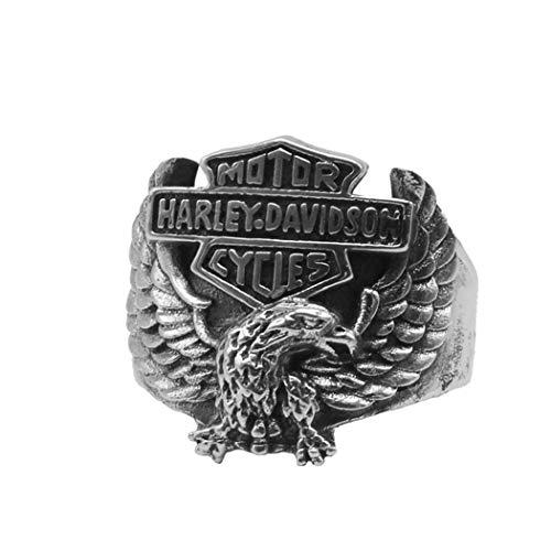 Sterling Silber Schmuck Falke Harley Einstellbar Retro Classic Partei Exquisite Mode Geburtstag Gedenken Geschenk ()