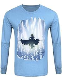 T-Shirt à manches longues Cloud & Aerith Homme Bleu