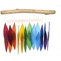Blue Handworks Glass Wind Chime, Over The Rainbow Color: Multi colored