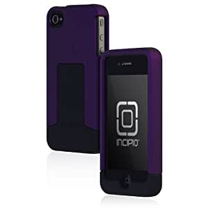 Incipio Triad Case for iPhone 4 - 1 Pack - Carrying Case - Retail Packaging - Purple/Black