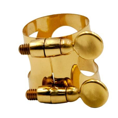FLAMEER 1 Pieza de Metal Abrazadera Clip de Ligadura para Boquilla de Saxofón de Dorado - dorado, Alto
