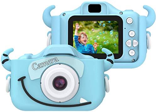 BALALALA Kinder-Kamera, Kinder-Digital-Video-Spree, Mini-Camcorder für Jungen und Mädchen, mit Cartoon-Soft-Silikon-Hülle, kann im Freien gespielt Werden, einschließlich Speicherkarte