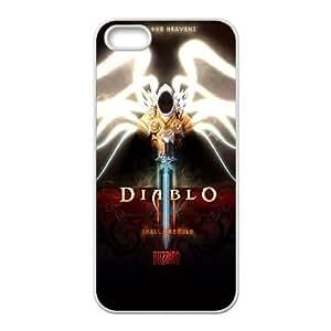 Diablo 3 Ailes de caractères Tyrael Ange Archange capot Epée 21841 iPhone 5 étui de téléphone cellulaire 5S coque coque Case blanc de couverture de téléphone portable EEECBCAAI75534
