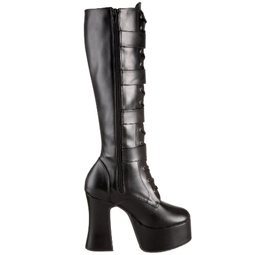 Pleaser SLU225/B/PU Bottes Femmes Blk Vegan Leather