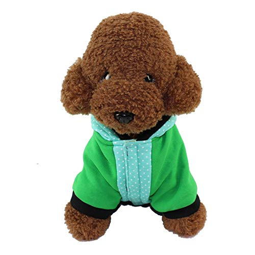 DRT Hundepullover, weich, dick, gesteppt, für Herbst und Winter, mit Kapuze, 1 Stück