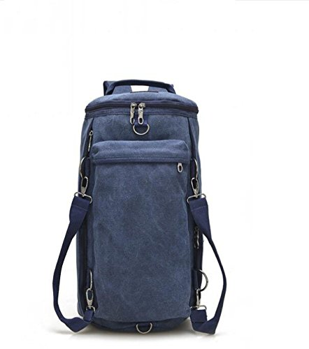 MYLL Unisex Multifunzionale Bag Shoulder Unisex Zaino Canvas Neutral Zaino Multifunzionale Blue MYLL Canvas Shoulder fdqII