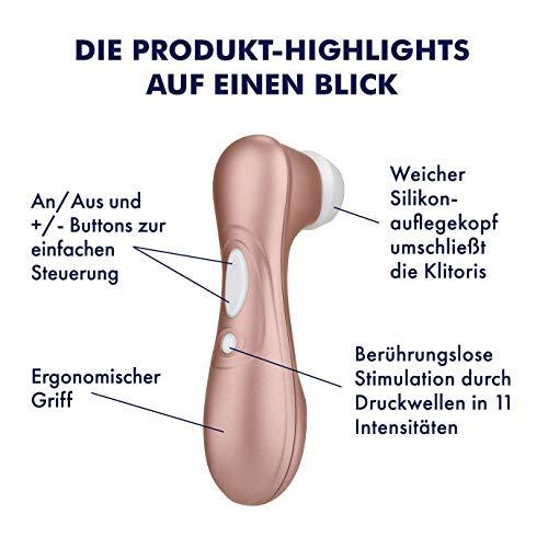 Satisfyer Pro 2 Next Generation, Klitoris-Sauger mit 11 Intensitätsstufen für berührlose Stimulation, Auflege-Vibrator mit Akku-Technik, wasserdicht