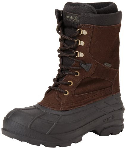 Kamik Herren NATIONPLUS Schneestiefel Braun (DBR-DARK BROWN) 43 EU