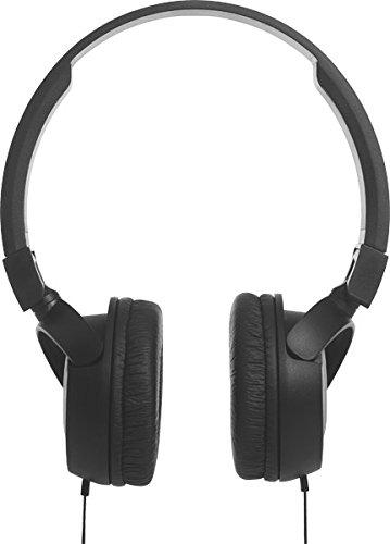 JBL T450 On-Ear Kopfhörer Ohraufliegend Leicht mit 1-Tasten-Fernbedienung und Mikrofon Kompatibel mit Apple und Android Geräten – Schwarz - 6