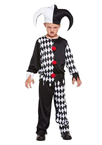 Kostüm Kind Evil Jester - Unbekannt Bösen Jester Kinder Kostüm - Evil Jester Clown Costume - vertrieb durch ABAV (Small)