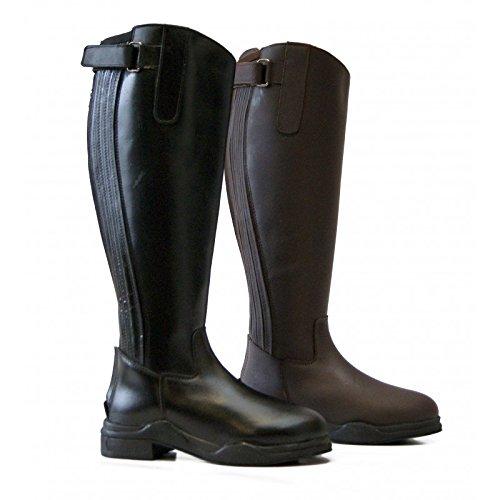 QHP Lyn Stivali invernali in Nero e Marrone dimensioni 3,5a 10 Black